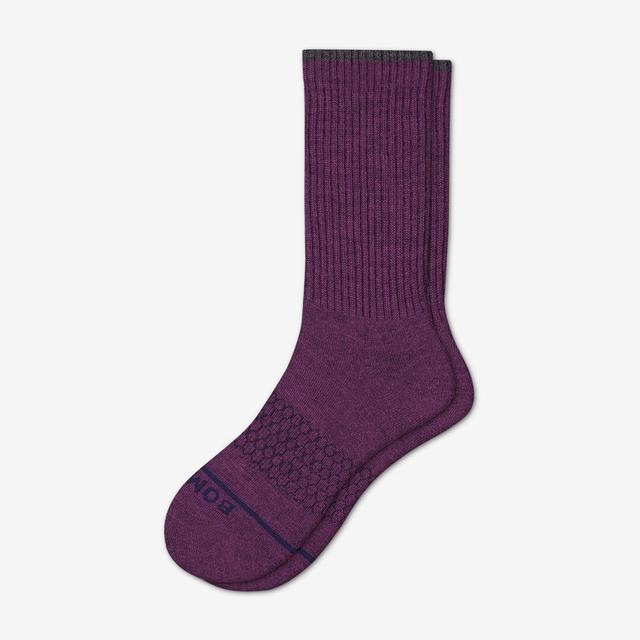 plum Women's Merino Wool Calf Socks