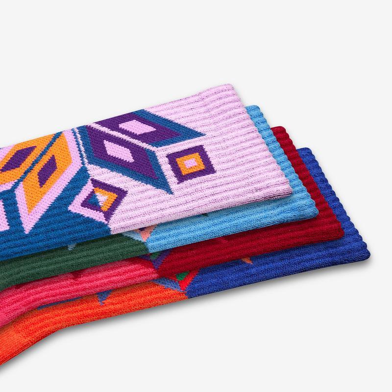 Women's Snowflake Calf Sock Gift Box
