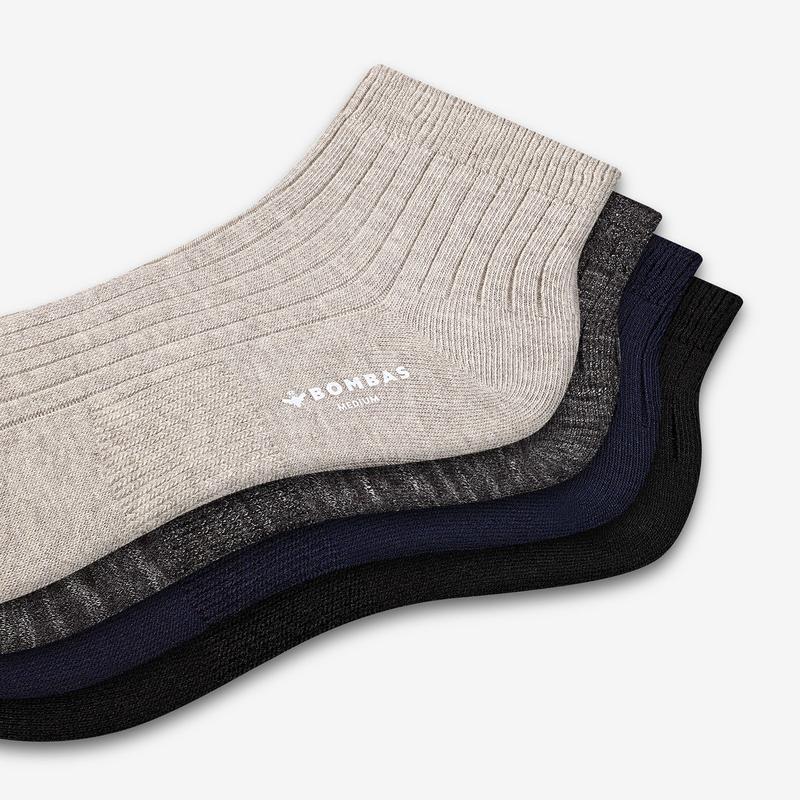 Women's Lightweight Ribbed Quarter Socks