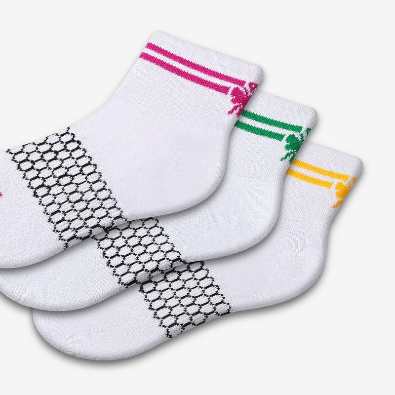 Youth Piqué Quarter Sock 4-Pack