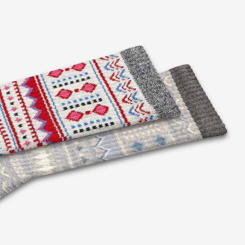 Women's Fair Isle Calf Socks