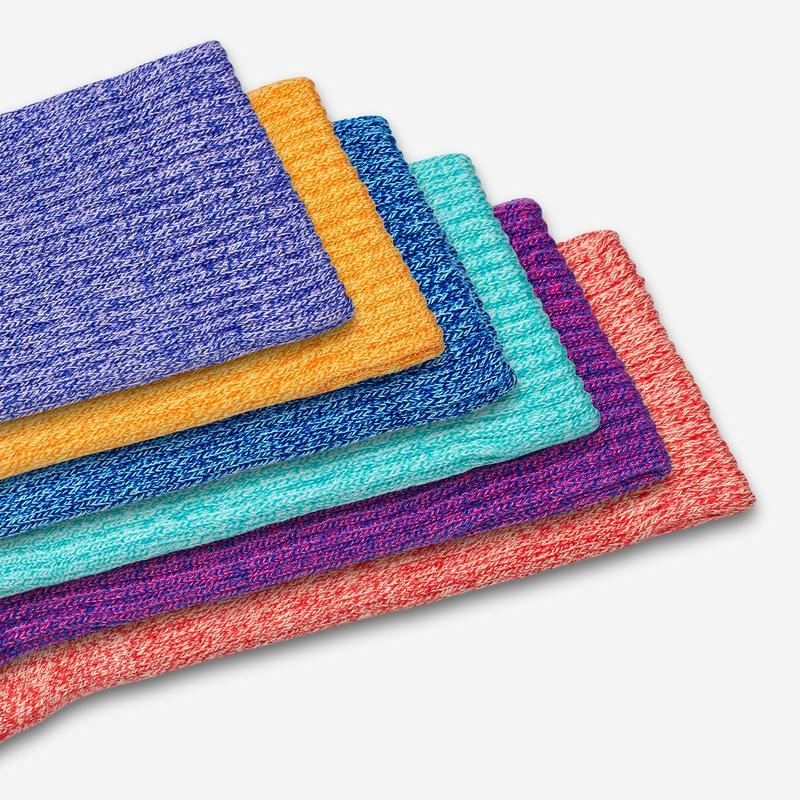 Bright Marls Calf Sock 6-Pack