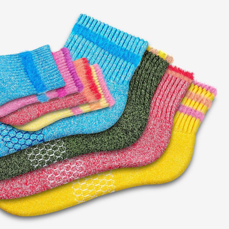Mother-Toddler Fuzzy Sesame Street Sock 8-Pack