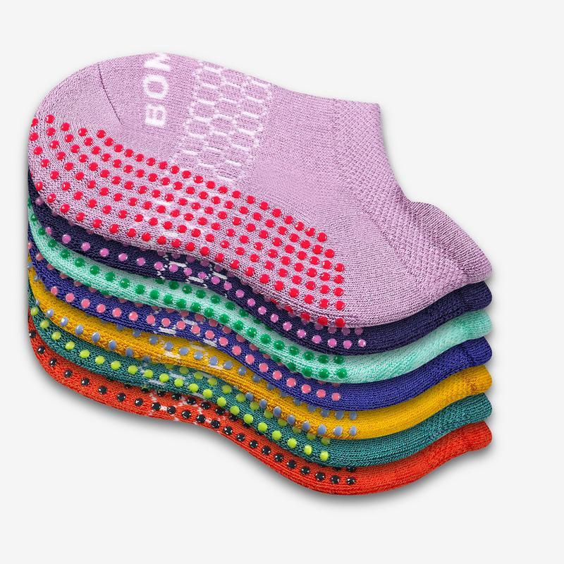 Toddler Gripper Ankle Sock 4-Pack
