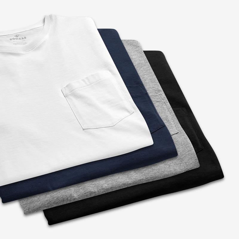 Men's Pima Cotton Pocket Crew Neck T-Shirt 6-Pack