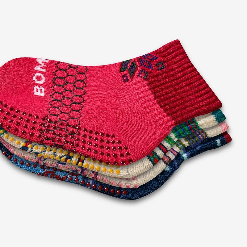 Toddler Holiday Gripper Calf Sock 4-Pack
