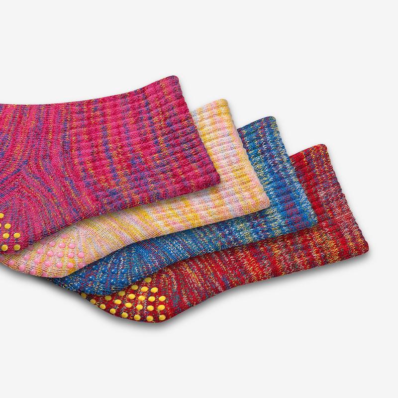 Toddler Space Dye Gripper Calf Sock 4-Pack