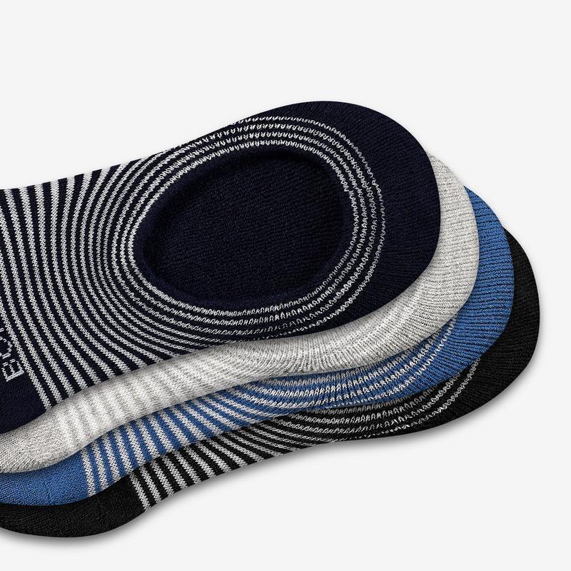 Men's Striped Cushioned No Show Sock