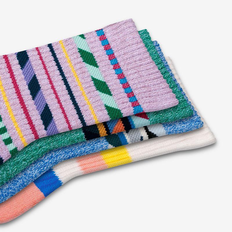 Youth Stripe Dream Calf Sock 4-Pack