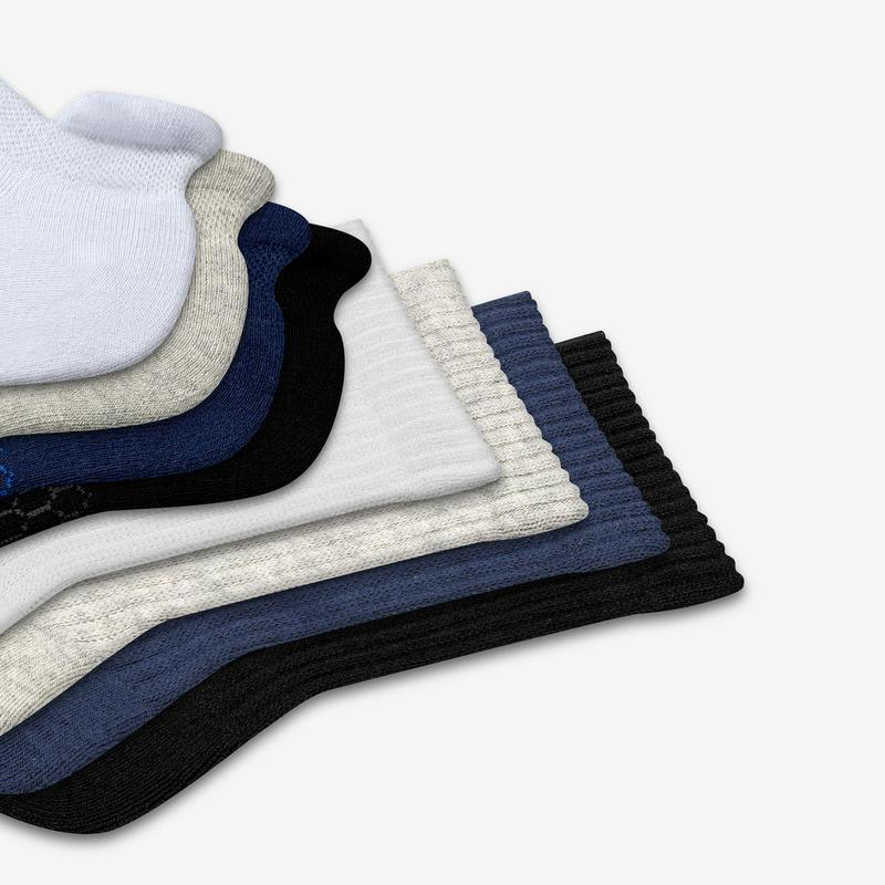 Youth Solids Calf & Ankle Sock 8-Pack