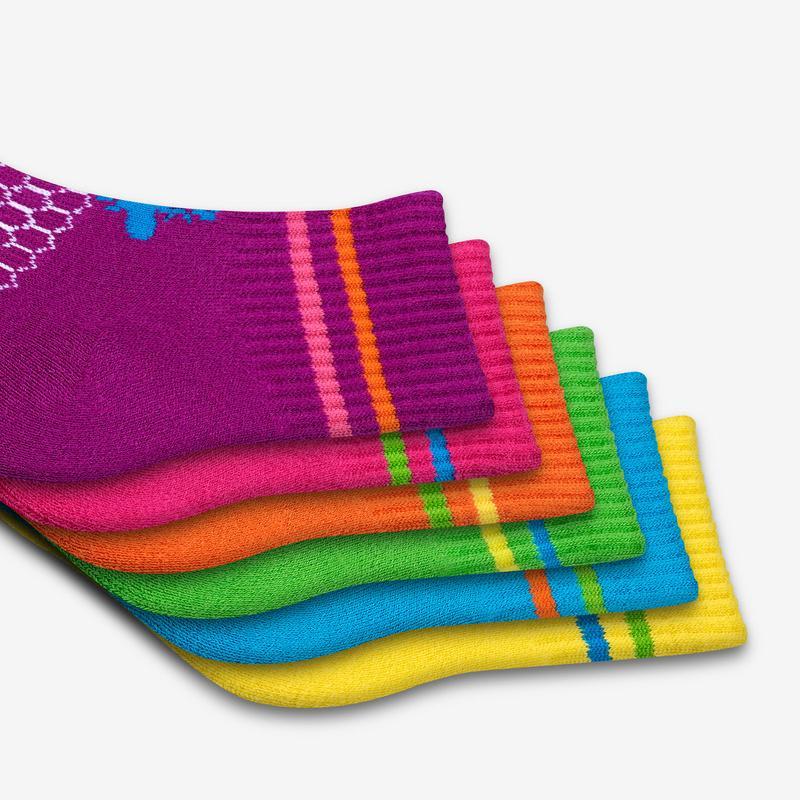 Toddler Bright Calf Sock 4-Pack