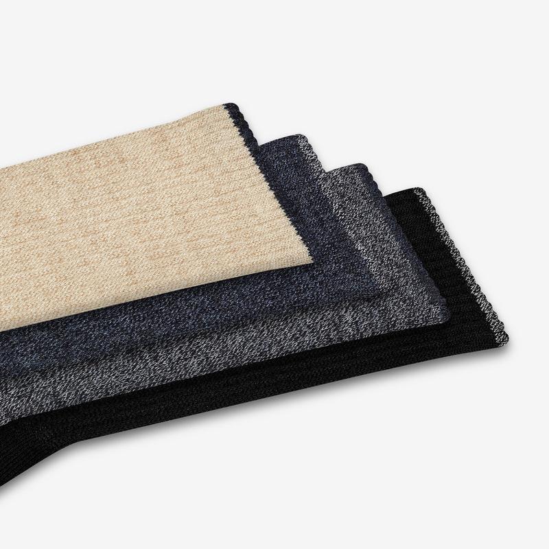 Men's Merino Wool Calf Sock 4-Pack