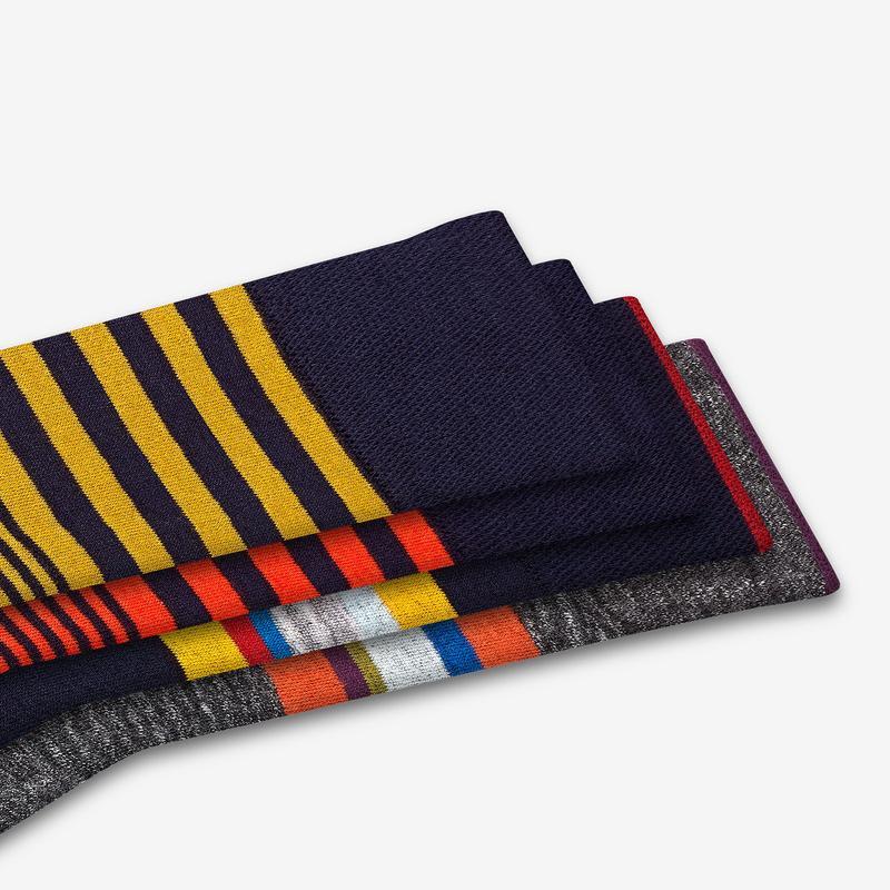 Men's Stripe Dress Calf Socks