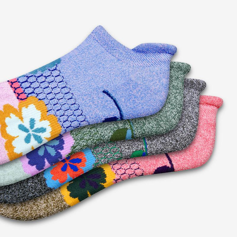 Women's Paisley Floral Ankle Sock 4-Pack