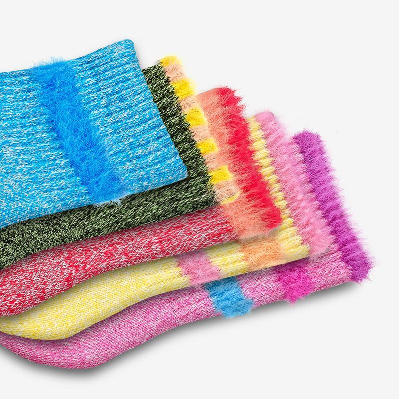 Toddler Sesame Street Fuzzy Calf Sock 4-Pack