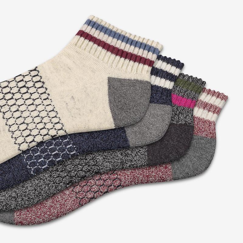 Women's Vintage Stripe Quarter Sock 4-Pack