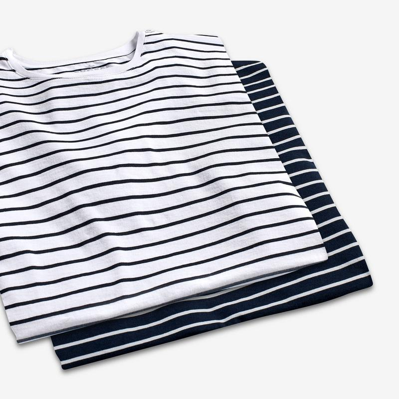 Men's Nautical Stripe Crew Neck T-Shirt
