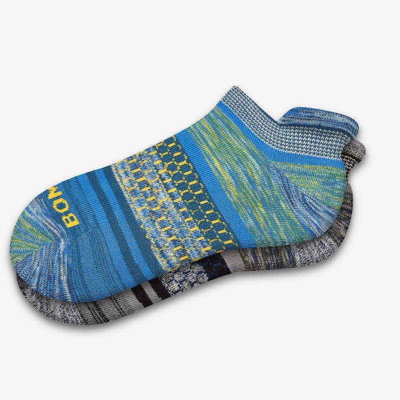 Men's Brush Stripe Ankle Socks