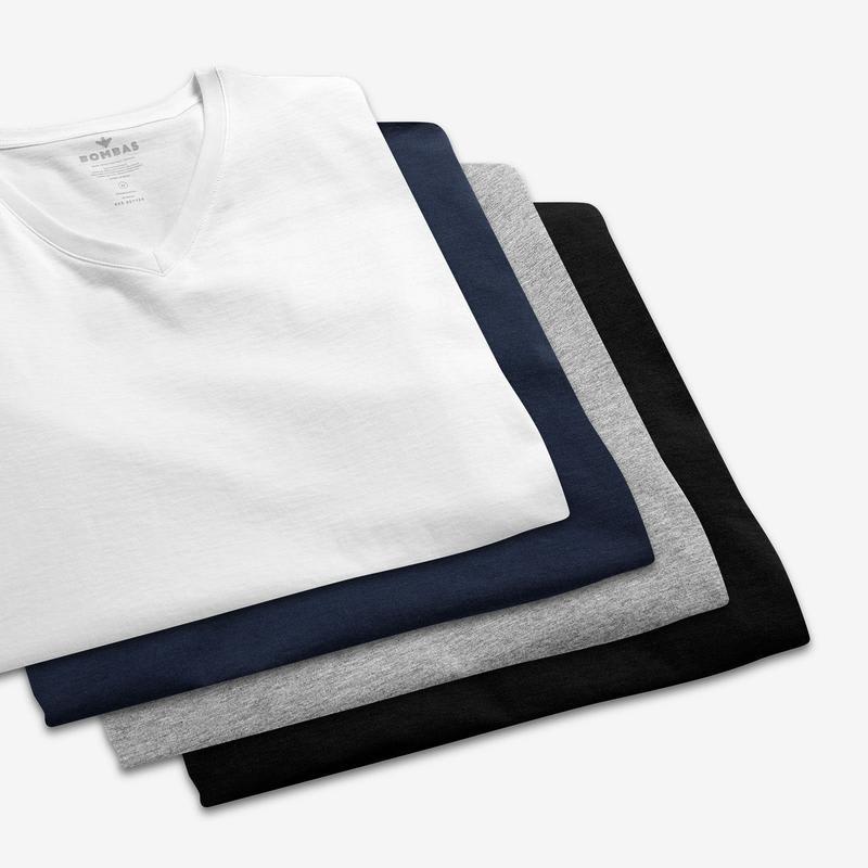 Men's Pima Cotton V-Neck T-Shirt 3-Pack