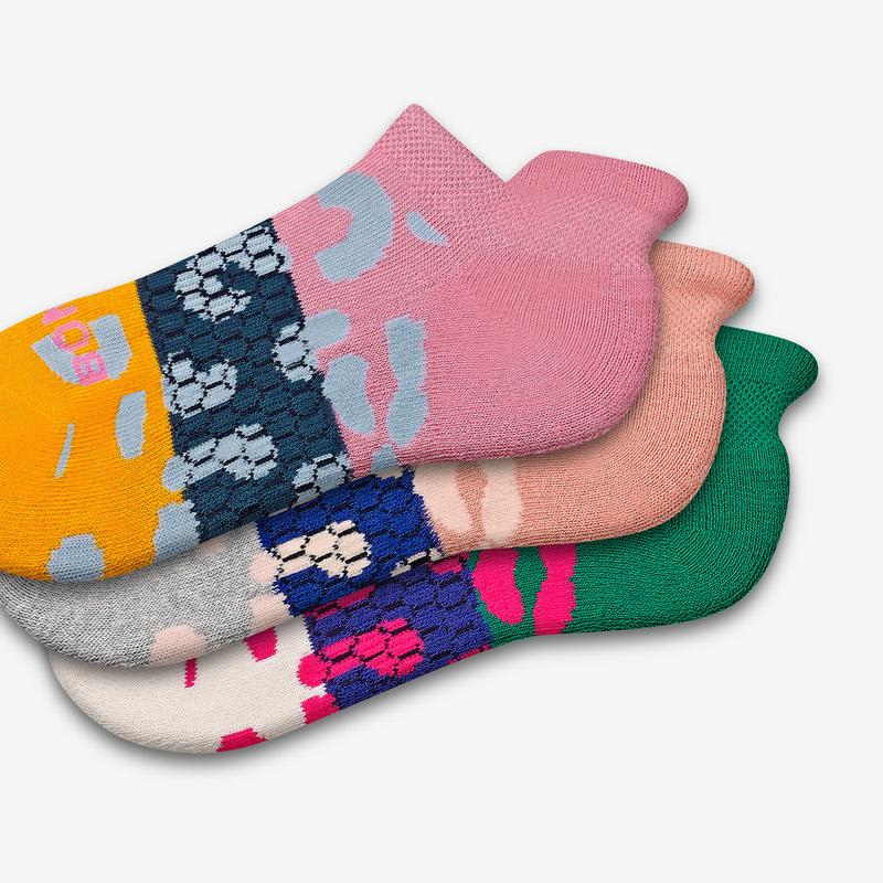 Youth Striped Leopard Ankle Sock 6-Pack