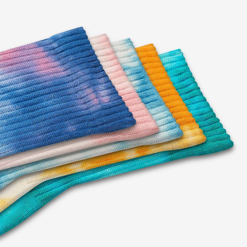 Youth Tie Dye Calf Sock 8-Pack