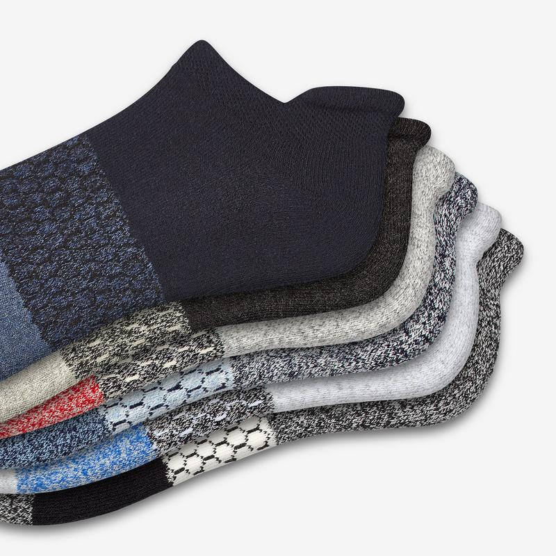 Men's Tri-Block Marl Ankle Sock 6-Pack