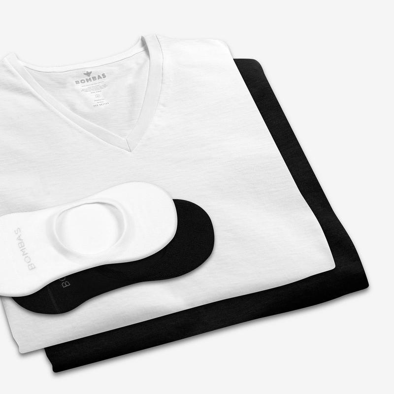 Women's V-Neck T-Shirt & No Show Sock 12-Pack