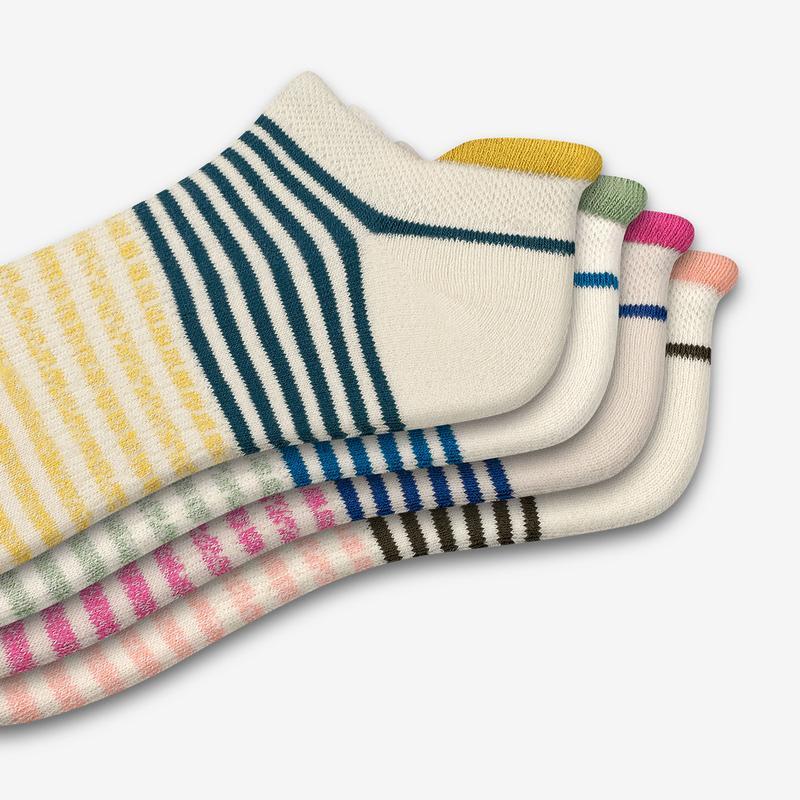 Women's Shadow Stripe Ankle Sock 4-Pack