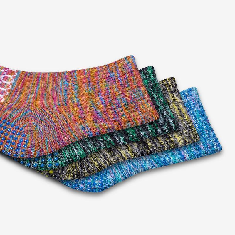 Toddler Space Dye Gripper Sock 4-Pack