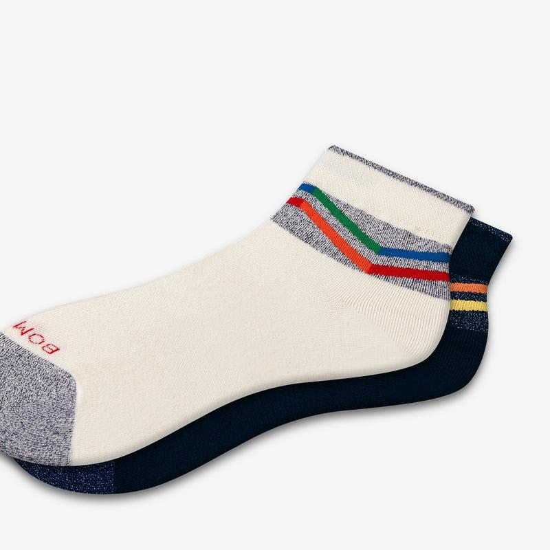 Women's Lightweight Sparkle Chevron Quarter Socks