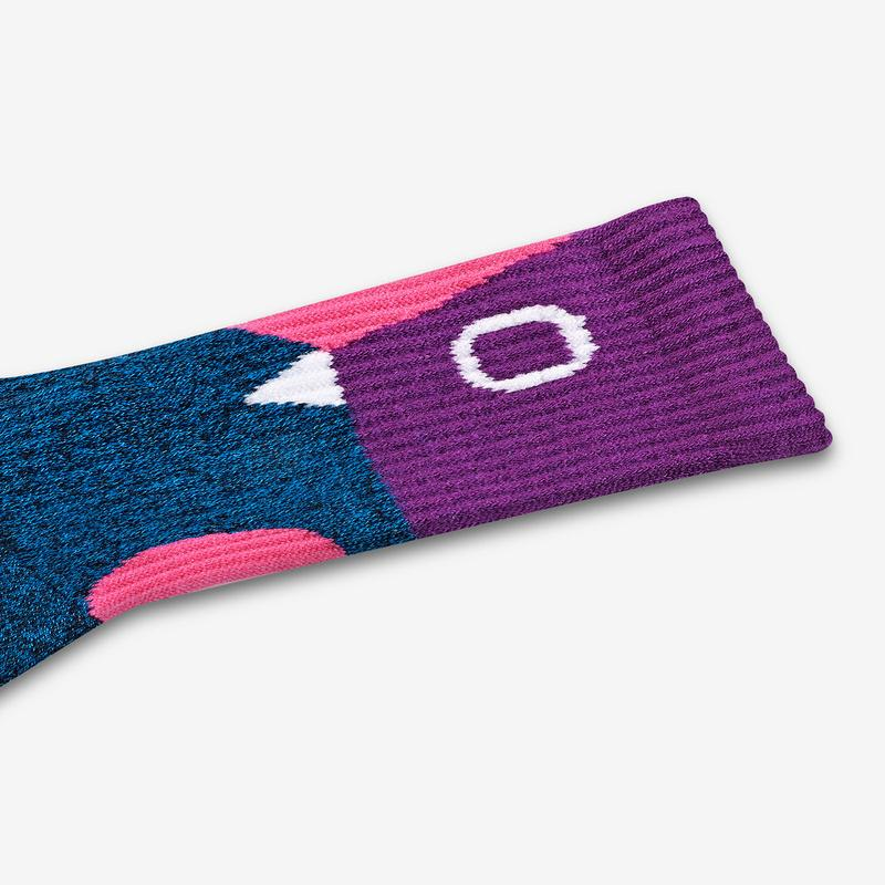 Women's Sesame Street 50th Anniversary Colorblock Calf Socks