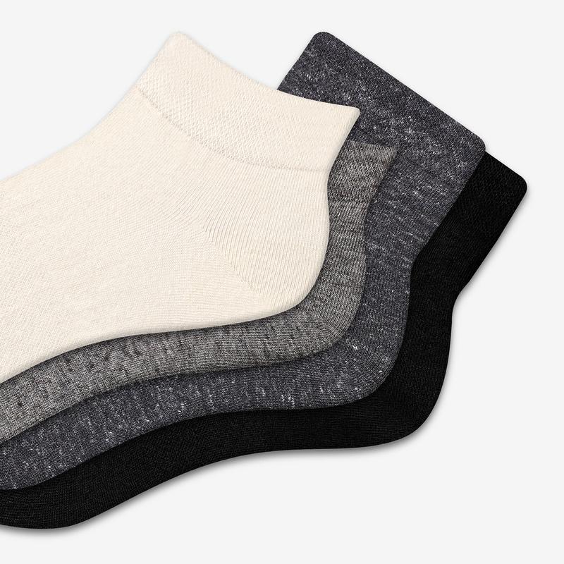 Women's Lightweight Ankle & Quarter Sock 8-Pack