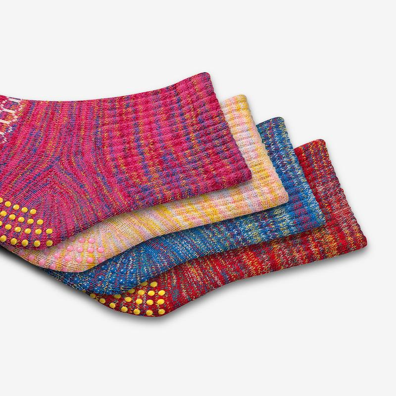 Toddler Space Dye Gripper Calf Sock 8-Pack