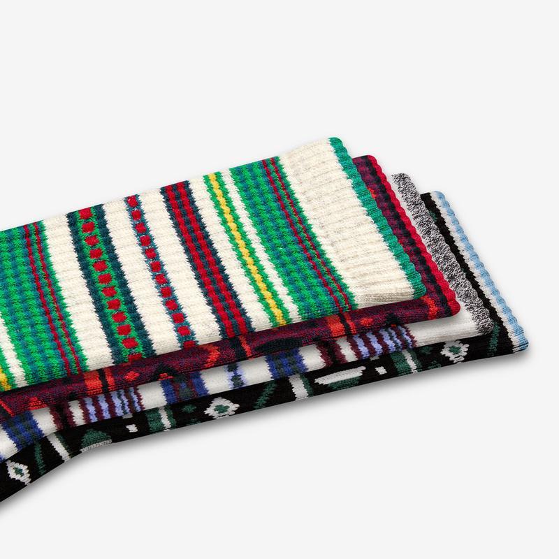 Men's Fair Isle Calf Sock 4-Pack