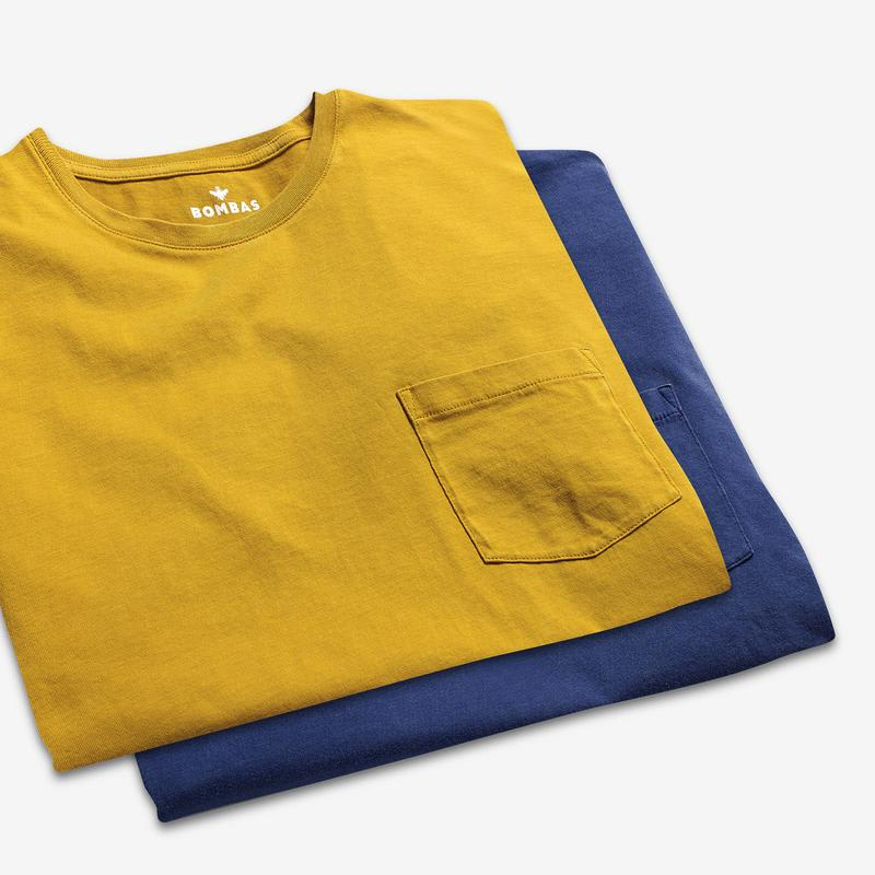 Men's Garment Dye Pocket Crew Neck T-Shirt