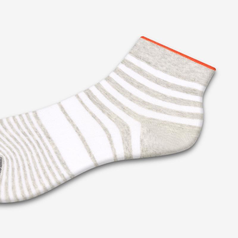 Women's Lightweight Stripe Quarter Socks