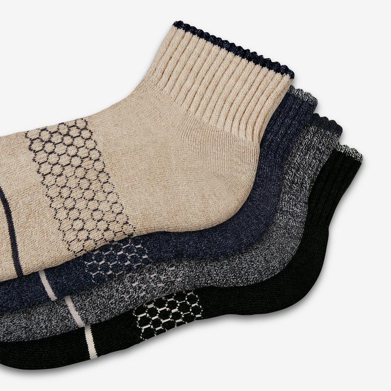Men's Merino Wool Quarter Sock 4-Pack