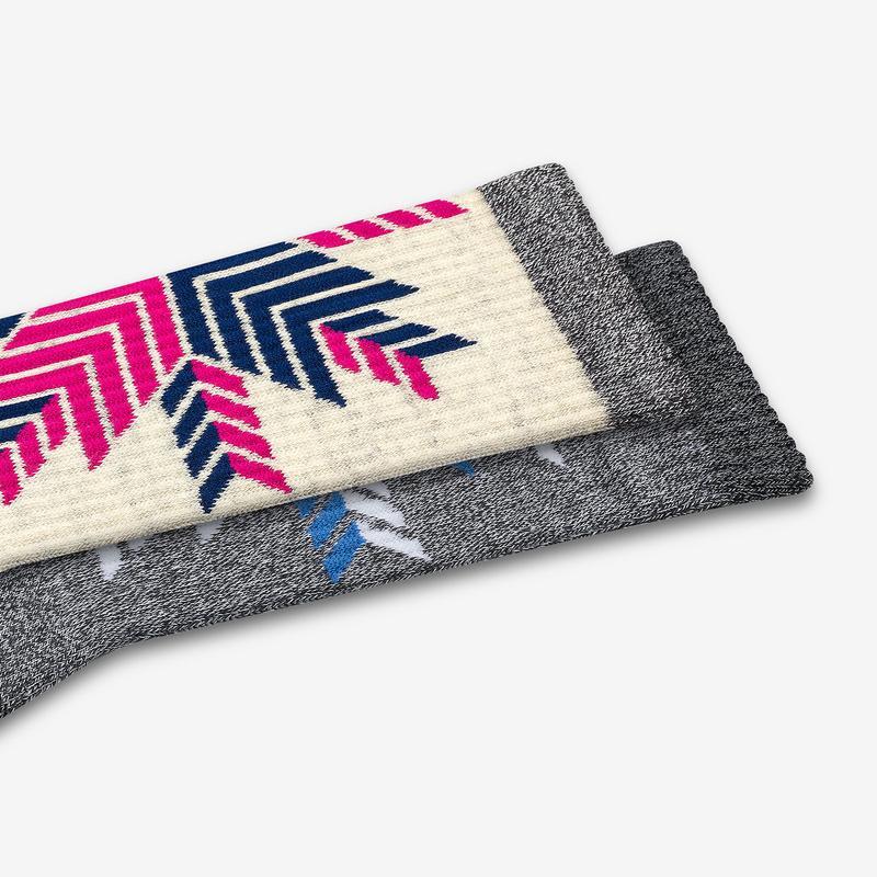 Women's Snowflake Calf Socks