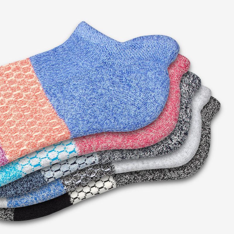 Women's Tri-Block Marl Ankle Sock 6-Pack