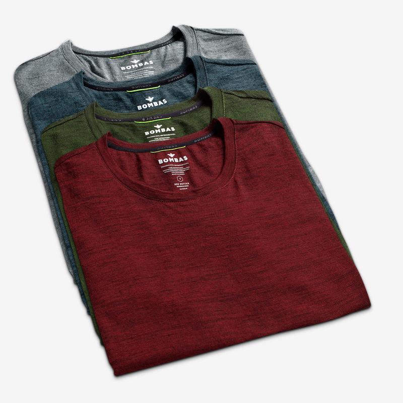 Men's Merino Crew Neck T-Shirt 4-Pack
