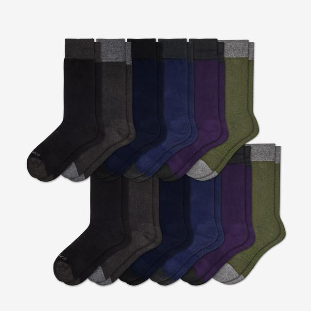 solids Men's Dress Sock 12-Pack