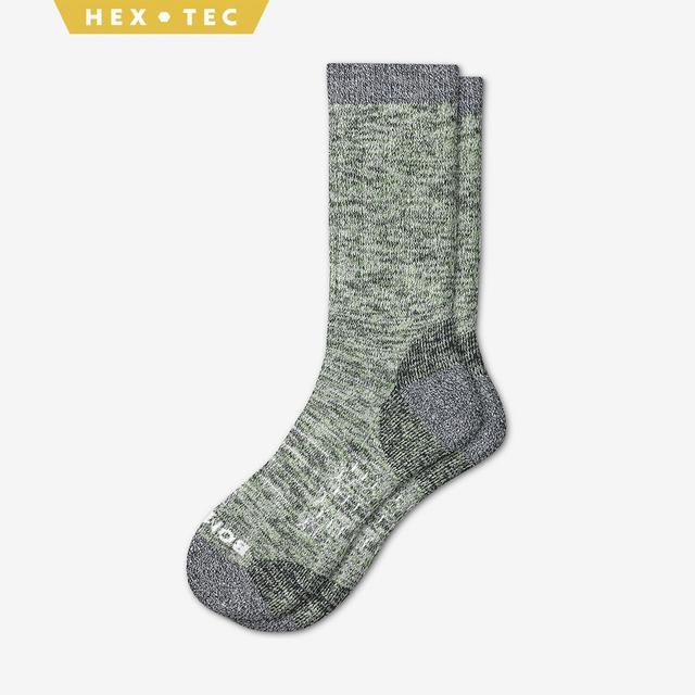 spring-green Men's Hiking Calf Socks