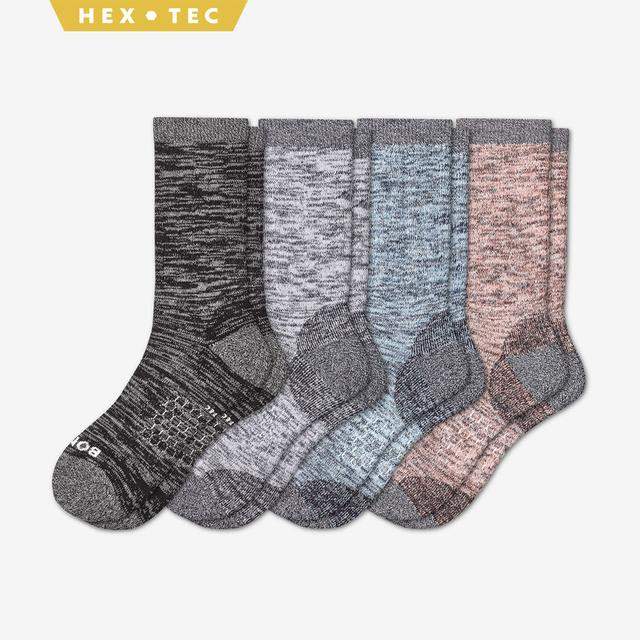 spring-mix Women's Hiking Calf Sock 4-Pack