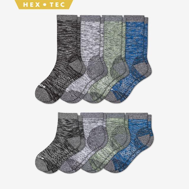 spring-mix Men's Hiking Calf & Quarter Sock 8-Pack