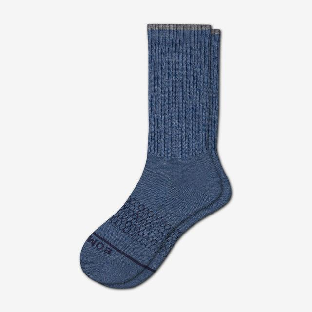 steel-blue Men's Merino Wool Socks