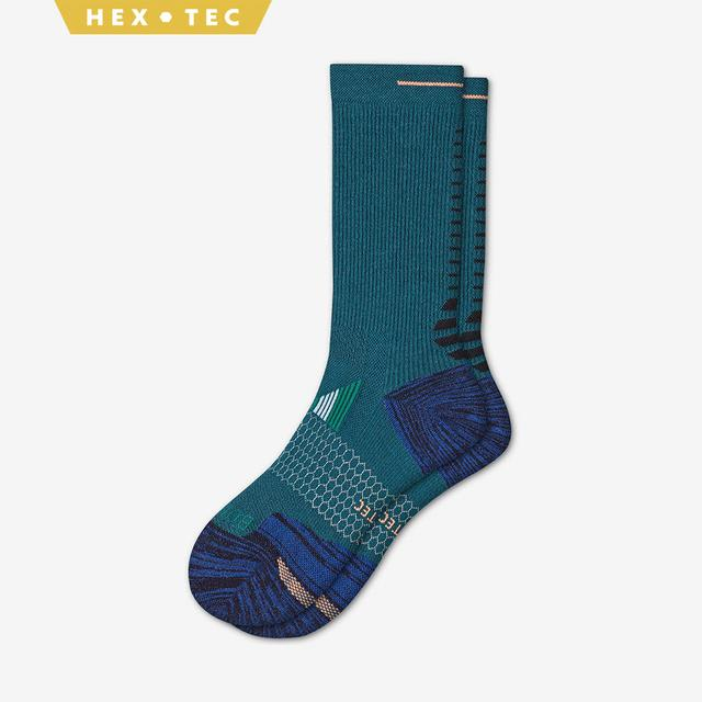teal-blue Men's Performance Running Calf Sock