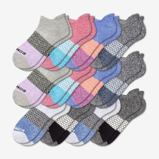 tri-block Women's All-Ankle Sock 12-Pack