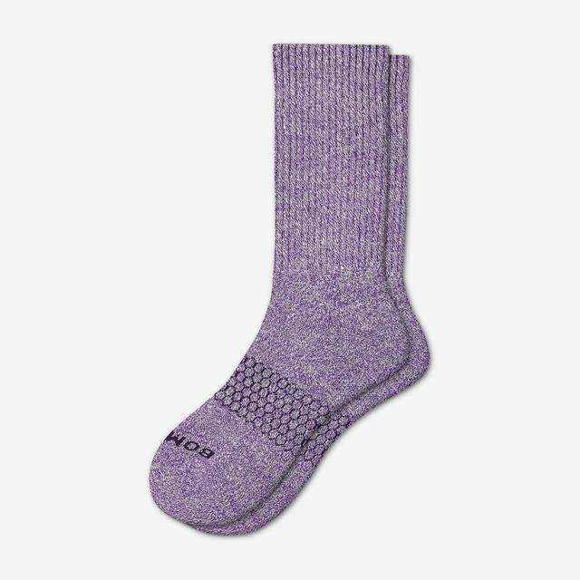 violet Men's Classic Marls Calf Sock