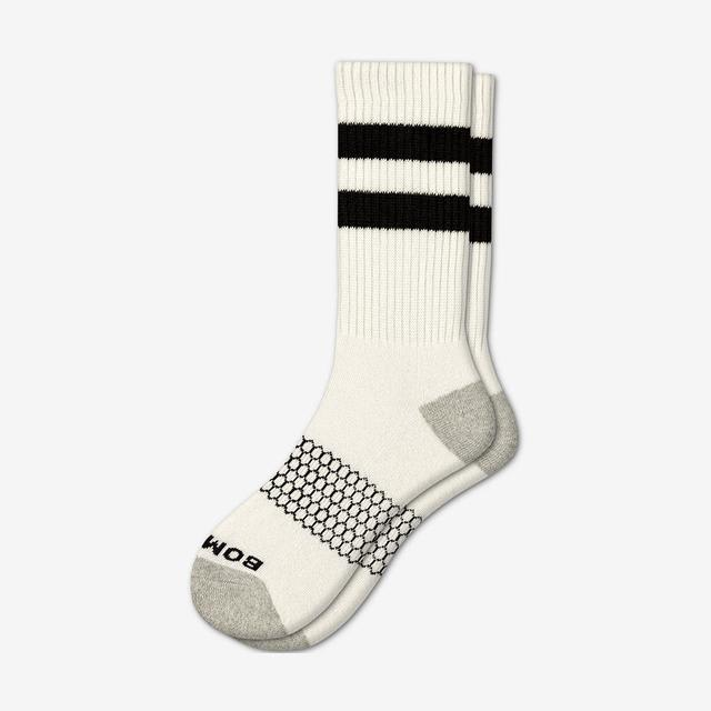 white-black Men's Vintage Stripe Calf Socks