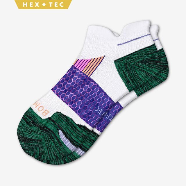 white-green-purple Women's Performance Running Ankle Sock